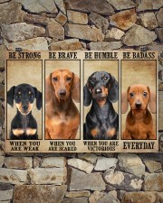 Dachshund be strong 36x24 Poster aos-poster-landscape-36x24-lifestyle-15