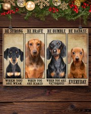 Dachshund be strong 36x24 Poster aos-poster-landscape-36x24-lifestyle-24