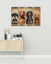 Dachshund be strong 36x24 Poster poster-landscape-36x24-lifestyle-01