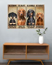 Dachshund be strong 36x24 Poster poster-landscape-36x24-lifestyle-21