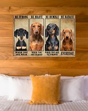 Dachshund be strong 36x24 Poster poster-landscape-36x24-lifestyle-23