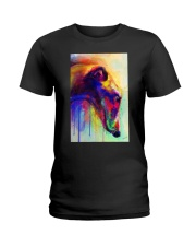 Greyhound Water Color Ladies T-Shirt thumbnail