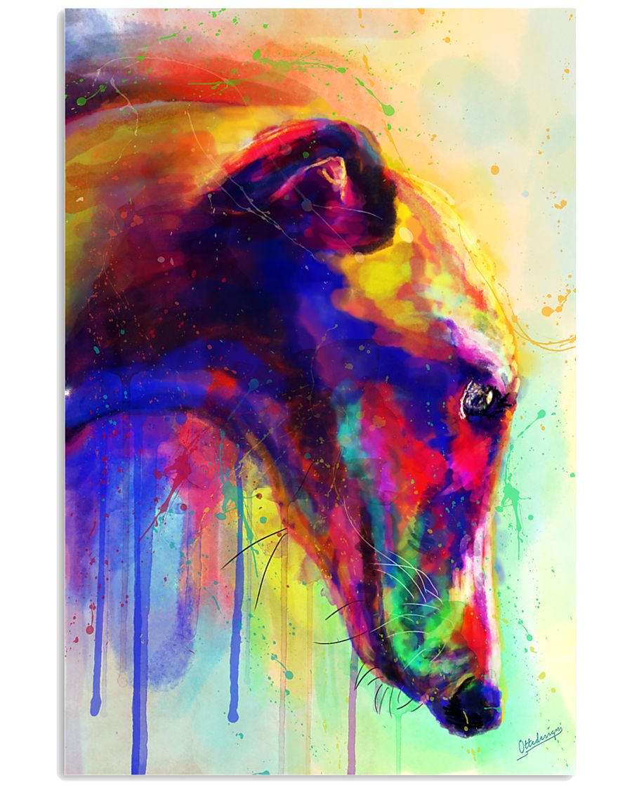 Greyhound Water Color 16x24 Poster