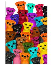 Pug multi 24x36 Poster front