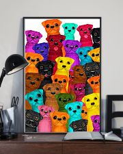 Pug multi 24x36 Poster lifestyle-poster-2
