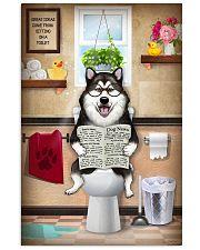 Alaskan Malamute Toilet Reading Newspaper Vertical Poster tile