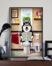 Alaskan Malamute Toilet Reading Newspaper 24x36 Poster lifestyle-poster-2