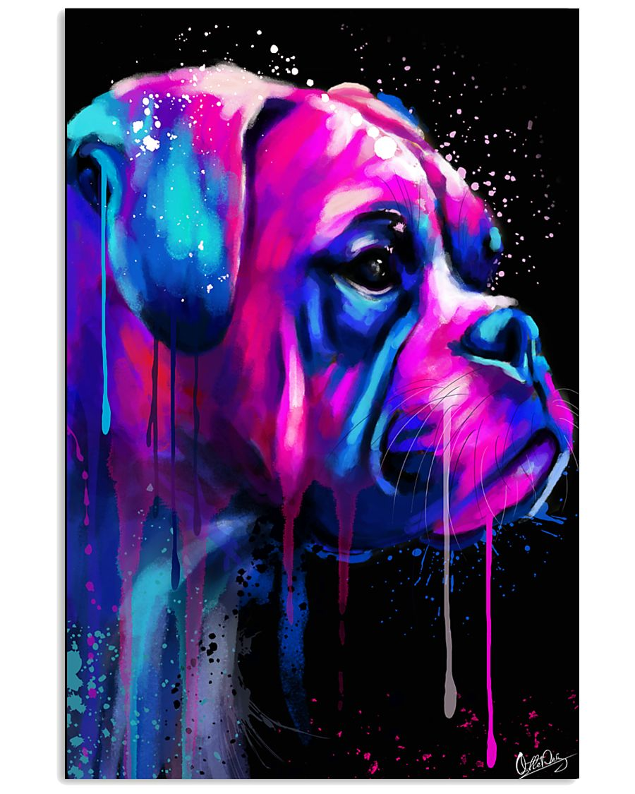 Boxer Poster Colorful Art 11x17 Poster