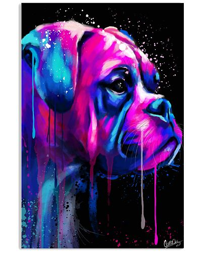 Boxer Poster Colorful Art