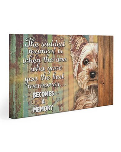 Yorkie becomes a memory