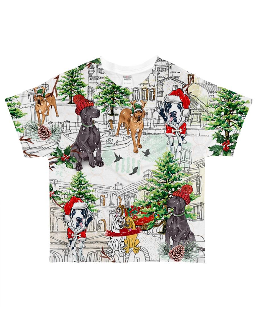 Great Dane  Christmas  All-over T-Shirt