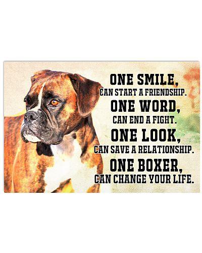 Boxer smile