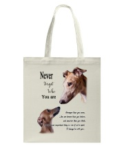 greyhound never4get Tote Bag thumbnail