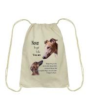 greyhound never4get Drawstring Bag thumbnail
