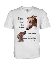 greyhound never4get V-Neck T-Shirt thumbnail