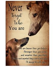 greyhound never4get 11x17 Poster thumbnail
