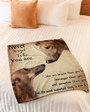 "greyhound never4get Small Fleece Blanket - 30"" x 40"" aos-coral-fleece-blanket-30x40-lifestyle-front-01"