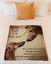 "greyhound never4get Small Fleece Blanket - 30"" x 40"" aos-coral-fleece-blanket-30x40-lifestyle-front-04"