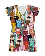 Cat Mini All-over Dress front