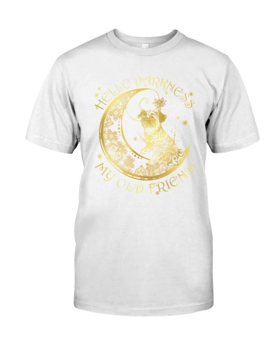 pug tattoo moon