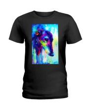 Greyhound Water Color Art Splash V123 Ladies T-Shirt thumbnail