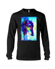 Greyhound Water Color Art Splash V123 Long Sleeve Tee thumbnail