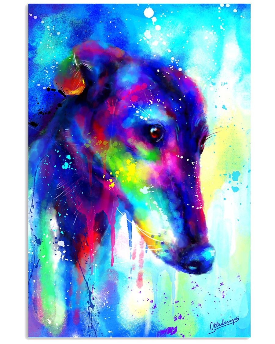 Greyhound Water Color Art Splash V123 16x24 Poster