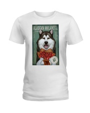 Alaskan Malamute Flower Company Ladies T-Shirt thumbnail