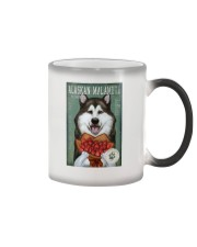 Alaskan Malamute Flower Company Color Changing Mug tile