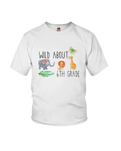 Wild About 6th Grade Sixth Jungle Tee Shirt