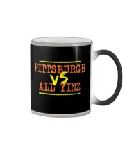 Pittsburgh vs All Yinz Tee Shirt Color Changing Mug thumbnail