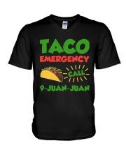 Taco Emergency Call 9 Juan Juan Tees V-Neck T-Shirt thumbnail