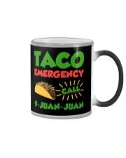 Taco Emergency Call 9 Juan Juan Tees Color Changing Mug thumbnail