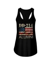 DD-214 Alumni American Flag Shirt Ladies Flowy Tank thumbnail