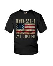DD-214 Alumni American Flag Shirt Youth T-Shirt thumbnail