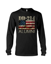 DD-214 Alumni American Flag Shirt Long Sleeve Tee thumbnail