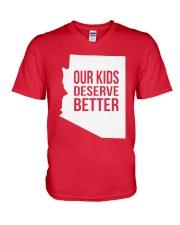 Our Kids Deserve Better T-Shirt V-Neck T-Shirt thumbnail