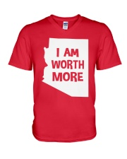 I Am Worth More T-Shirt V-Neck T-Shirt thumbnail