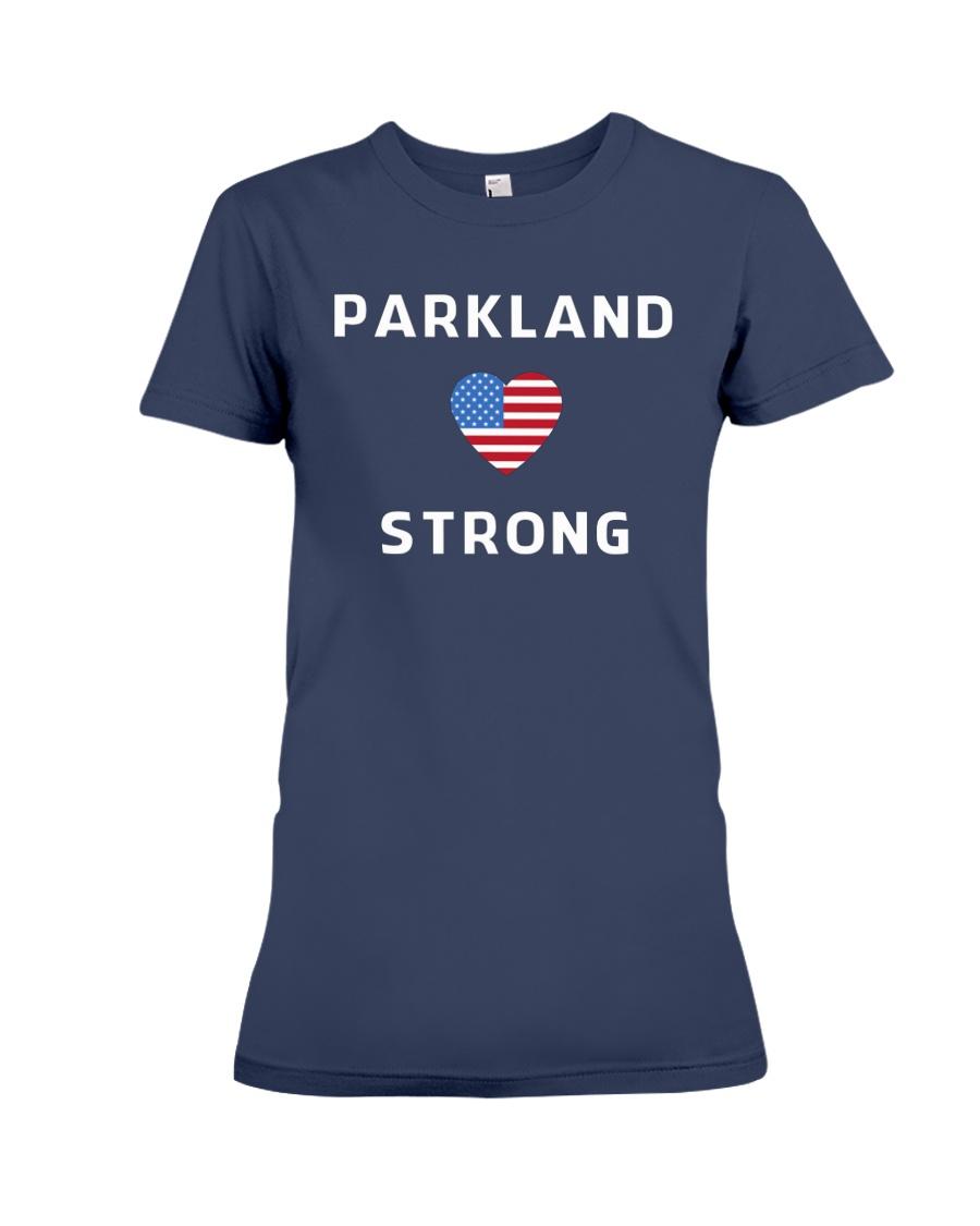 Parkland Strong American Flag T-Shirt Premium Fit Ladies Tee