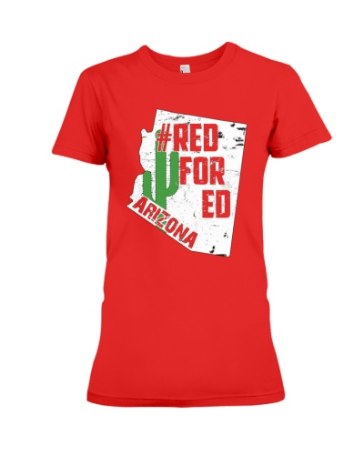 Arizona Teacher Shirt Red For Ed