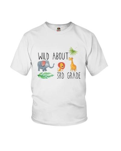 Wild About 3rd Grade Jungle Tee Shirt