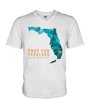 Pray for Parkland Strong T-Shirt V-Neck T-Shirt thumbnail