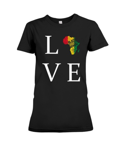 Africa Love Black History Month T-Shirt