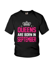Queens Are Born In September Tanktop Youth T-Shirt thumbnail