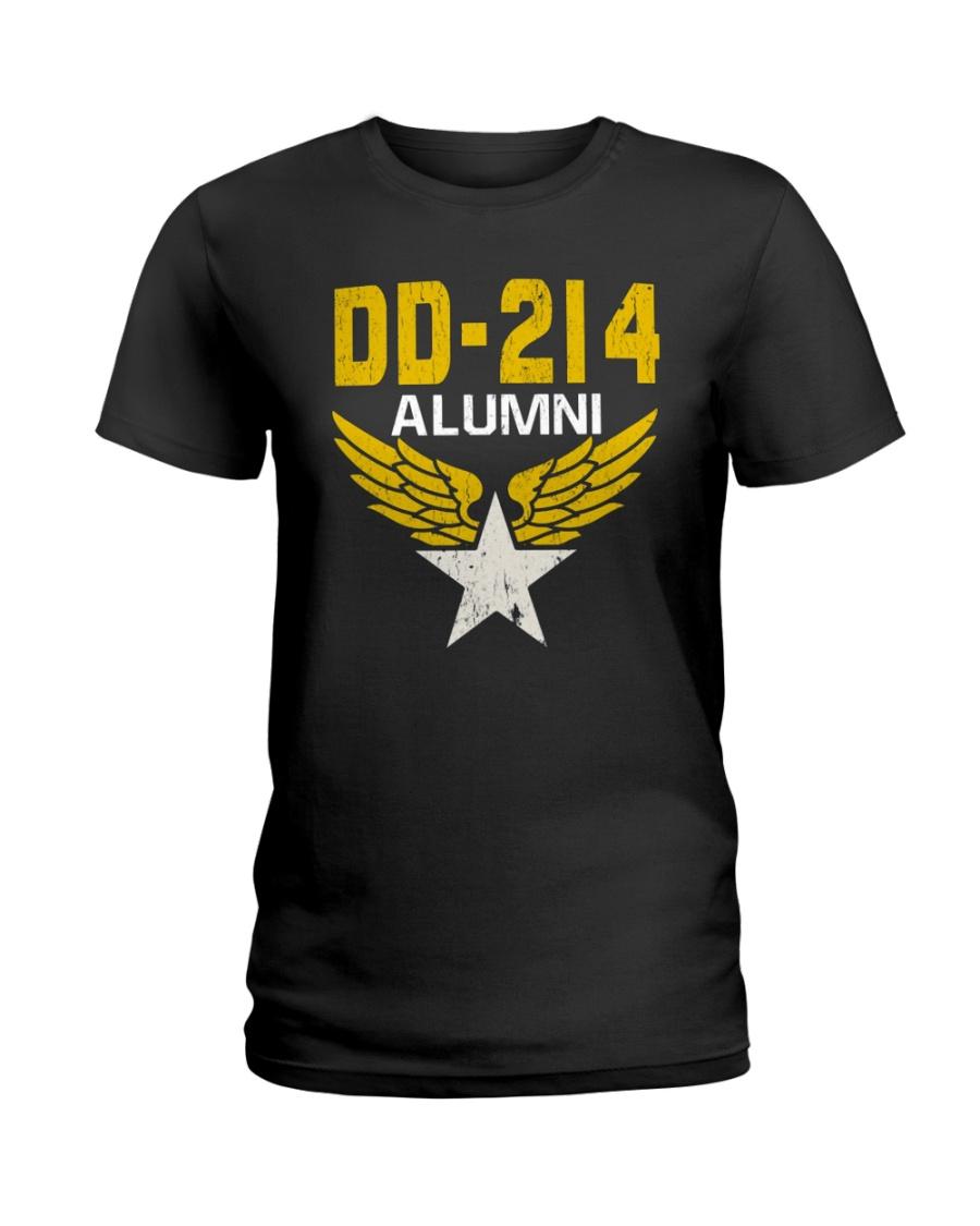 DD-214 Alumni Military Tee Shirt Ladies T-Shirt