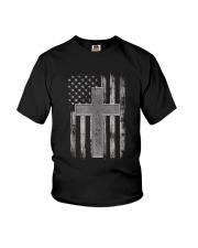 Thin Silver Line Corrections Officer Prayer Shirt Youth T-Shirt thumbnail