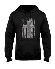 Thin Silver Line Corrections Officer Prayer Shirt Hooded Sweatshirt thumbnail