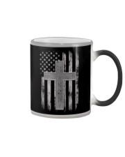 Thin Silver Line Corrections Officer Prayer Shirt Color Changing Mug thumbnail
