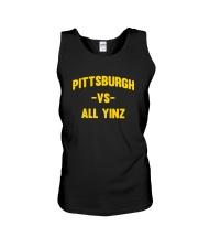 Pittsburgh Vs All Yinz Tee Shirt Unisex Tank thumbnail
