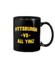Pittsburgh Vs All Yinz Tee Shirt Mug thumbnail